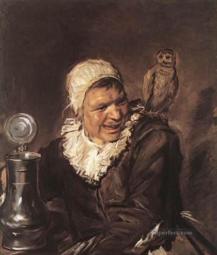 Frans Canvas - Malle Babbe portrait Dutch Golden Age Frans Hals
