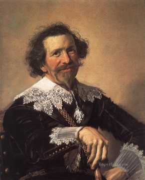Frans Canvas - Pieter Van Den Broecke portrait Dutch Golden Age Frans Hals