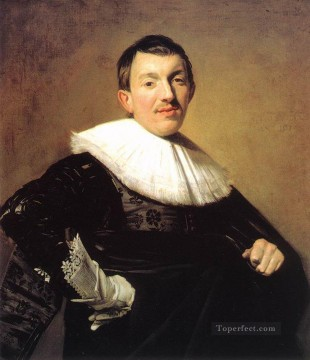 portrait - Portrait Of A Man 1634 Dutch Golden Age Frans Hals