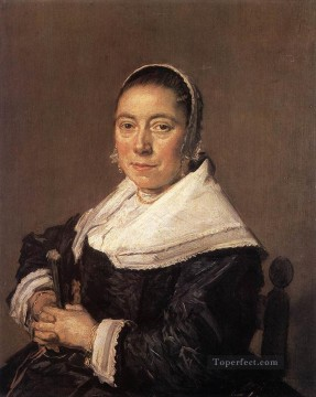 portrait - Portrait Of A Seated Woman Presumedly Maria Veratti Dutch Golden Age Frans Hals