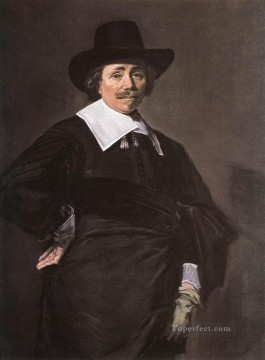 Frans Hals Painting - Portrait Of A Standing Man Dutch Golden Age Frans Hals