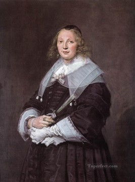 Frans Hals Painting - Portrait Of A Standing Woman Dutch Golden Age Frans Hals