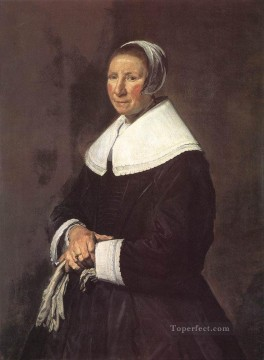 portrait - Portrait Of A Woman 1648 Dutch Golden Age Frans Hals