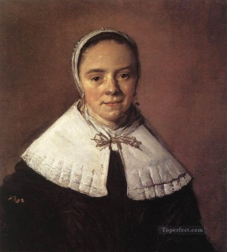 Frans Hals Painting - Portrait Of A Woman 1655 Dutch Golden Age Frans Hals