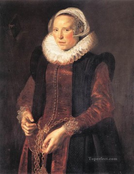 Frans Hals Painting - Portrait Of A Woman Dutch Golden Age Frans Hals