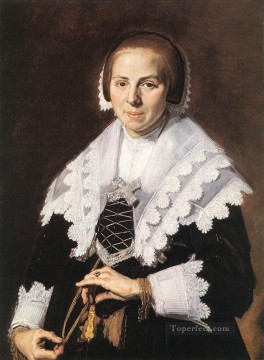 Frans Hals Painting - Portrait Of A Woman Holding A Fan Dutch Golden Age Frans Hals