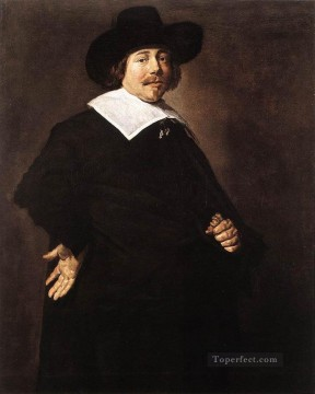 portrait - Portrait Of A man 1640 Dutch Golden Age Frans Hals