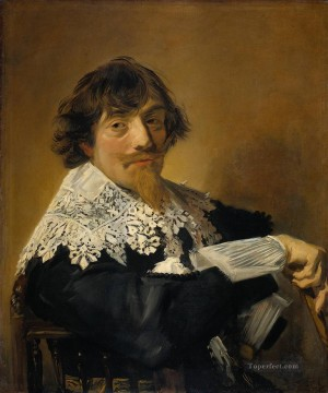 Frans Hals Painting - Portrait of a man possibly Nicolaes Hasselaer Dutch Golden Age Frans Hals
