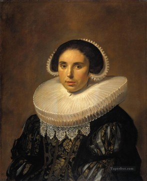 portrait - Portrait of a woman possibly Sara Wolphaerts van Diemen Dutch Golden Age Frans Hals