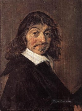 Frans Hals Painting - Rene Descartes portrait Dutch Golden Age Frans Hals