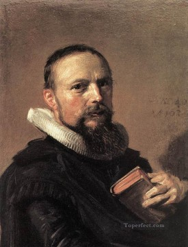 portrait - Samuel Ampzing portrait Dutch Golden Age Frans Hals