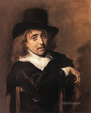 portrait - Seated Man Holding A Branch portrait Dutch Golden Age Frans Hals
