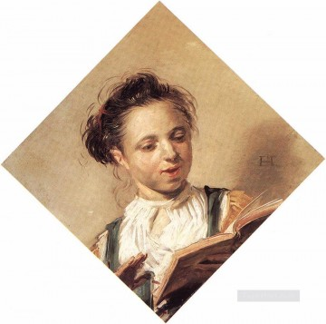 portrait - Singing Girl portrait Dutch Golden Age Frans Hals