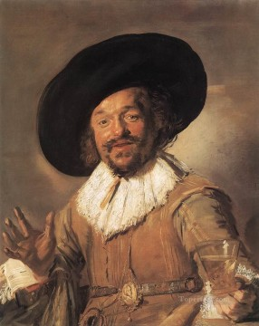 portrait - The Merry Drinker WGA portrait Dutch Golden Age Frans Hals