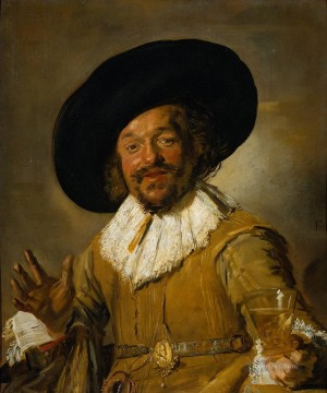 portrait - The Merry Drinker portrait Dutch Golden Age Frans Hals