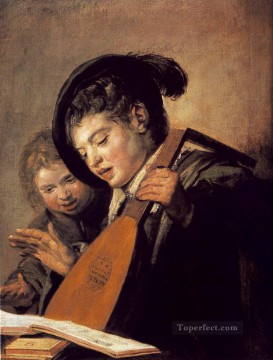 Frans Hals Painting - Two Boys Singing portrait Dutch Golden Age Frans Hals
