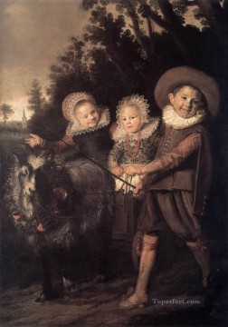 child Painting - Group of Children portrait Dutch Golden Age Frans Hals