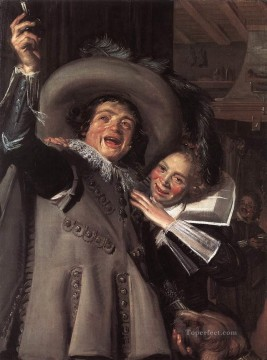 Heart Painting - Jonker Ramp and his Sweetheart portrait Dutch Golden Age Frans Hals