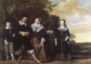 Family Painting - Family Group In A Landscape Dutch Golden Age Frans Hals