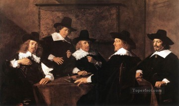 Frans Hals Painting - Regents Of The St Elizabeth Hospital Of Haarlem portrait Dutch Golden Age Frans Hals