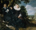 Marriage Portrait of Isaac Massa en Beatrix van der Laen Dutch Golden Age Frans Hals