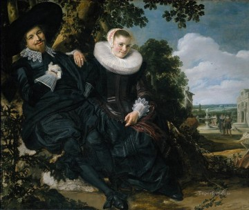 Frans Hals Painting - Marriage Portrait of Isaac Massa en Beatrix van der Laen Dutch Golden Age Frans Hals