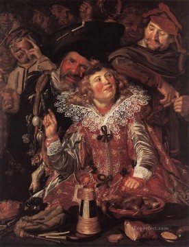 Shrovetide Revellers portrait Dutch Golden Age Frans Hals Oil Paintings