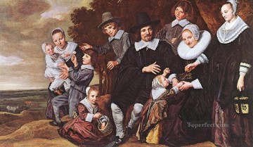Family Painting - Family Group In A Landscape 1648 portrait Dutch Golden Age Frans Hals