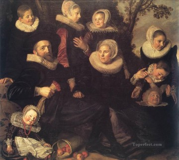 Family Painting - Family Portrait in a Landscape Dutch Golden Age Frans Hals