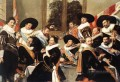 Banquet Of The Officers Of The St George Civic Guard Company 2 portrait Dutch Golden Age Frans Hals