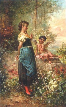 Hans Zatzka Painting - The love letter Hans Zatzka