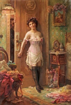 Hans Zatzka Painting - Anticipation Hans Zatzka