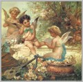 floral angels and guitar Hans Zatzka
