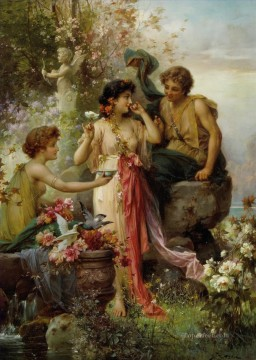 Hans Zatzka Painting - Love Offering Hans Zatzka