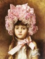 The Pink Bonnet girl portrait Alexei Harlamov