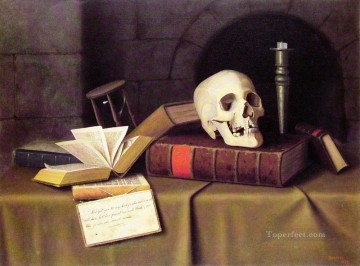William Harnett Painting - Memento Mori Irish William Harnett