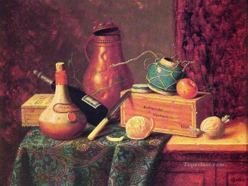 William Harnett Painting - Still Life 1883 Irish painter William Harnett
