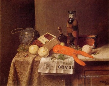William Harnett Painting - Still Life with Le Figaro Irish painter William Harnett