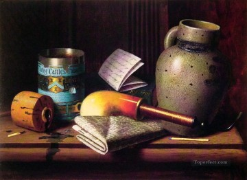 William Harnett Painting - Still Life with Three Castles Irish painter William Harnett