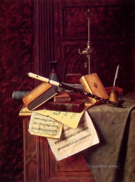 William Harnett Painting - Still life 1885 Irish painter William Harnett