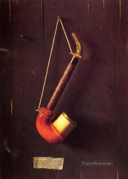 William Harnett Painting - The Meerschaum Pipe Irish William Harnett