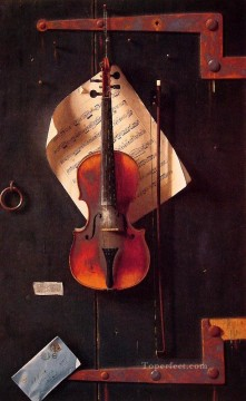 William Harnett Painting - The Old Violin Irish William Harnett