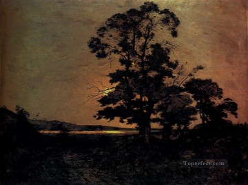 Moonlight On The Loire Barbizon landscape Henri Joseph Harpignies Oil Paintings