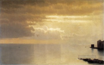 A Calm Sea Mentone scenery Luminism William Stanley Haseltine Oil Paintings