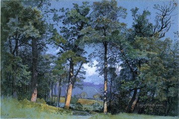Lake Painting - Coppet Lake Geneva scenery Luminism William Stanley Haseltine