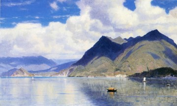 William Stanley Haseltine Painting - Lago Maggiore2 scenery Luminism William Stanley Haseltine