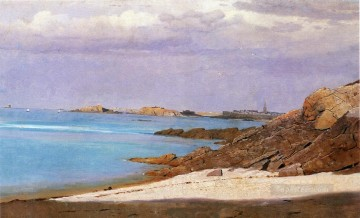 Saint Malo Brittany scenery Luminism William Stanley Haseltine Oil Paintings