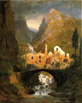 William Stanley Haseltine Painting - Valle dei Molini Amalfi scenery Luminism William Stanley Haseltine