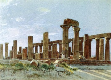 aka - Agrigento aka Temple of Juno Lacinia scenery Luminism William Stanley Haseltine