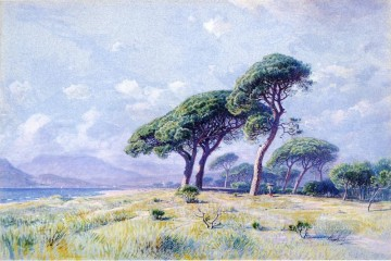 William Stanley Haseltine Painting - Cannes scenery Luminism William Stanley Haseltine